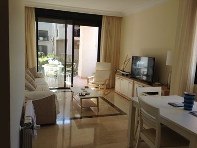 Photo for Luxury 3 bed ground floor apartment, WiFi, air-con, SW facing