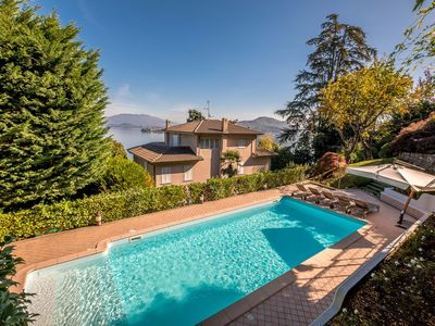 Photo for Villa Alba is a wonderful luxury home in Lake Maggiore, with amazing lake view with 6 bedrooms and 4