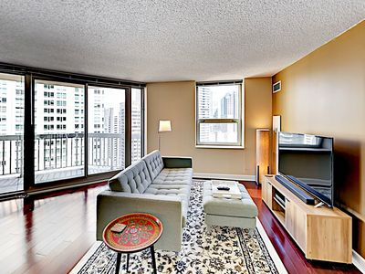 Photo for New Listing! Stylish Downtown High-Rise w/ Sweeping City Views, Pool & Gym