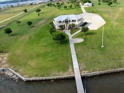Sabine Lake Lodge  is on 10 acres on Sabine Lake with a security fence and gate