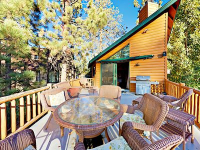 Photo for Charming 3BR w/ Private Hot Tub, Pool Table & Big Bear Lake Views