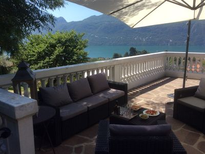 Photo for Villa stunning view of Lake Bourget