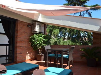Photo for Apartment with terrace on the beach Costa Barcelona