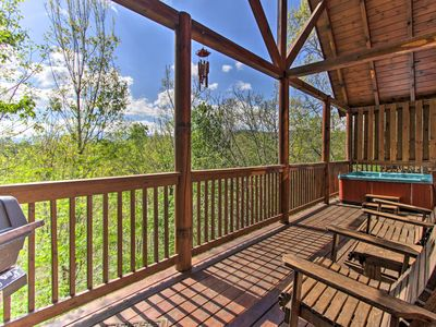 Photo for Pigeon Forge Cabin w/Views, Hot Tub, & Comm. Pool!