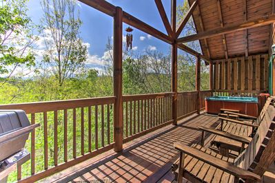 Book a trip to this 1-bedroom, 1-bathroom vacation rental cabin in Pigeon Forge.