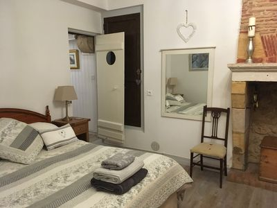 spacious peaceful bedroom with ensuite and huge shower