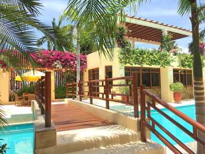 Photo for SUPERB CONTEMPORARY CONDO WITH POOL AND 4 MIN FROM CHAHUE BEACH