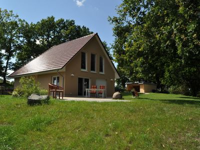 Photo for 5 star holiday home for 6 persons, sauna, fireplace, 2500 m² of land, Motorboat