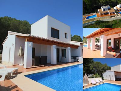 Photo for 2 Twin Luxurious & Secluded Villa - Private Pools, Walk to the Beach & Moraira