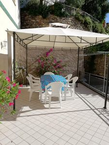 Photo for ALASSIO IN TYPICAL VILLAGE LIGURE WITH LARGE LIVABLE EQUIPPED TERRACE