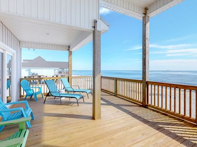 Photo for Spacious Gulf front home w/ spectacular sunrise & sunset views!