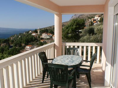Photo for Two bedroom apartment with terrace and sea view Mimice, Omiš (A-2754-d)