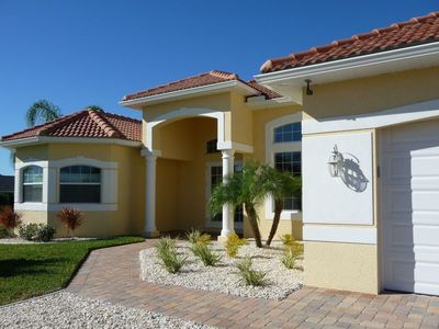 Photo for Villa Calla * 5 min to the RIVER * boat dock * 3X King beds * huge pool with SPA *