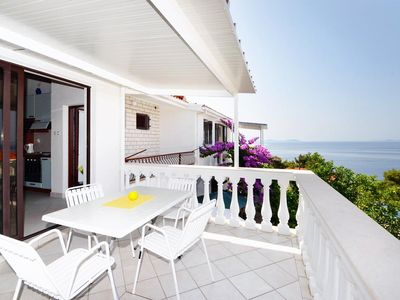 Photo for Two bedroom apartment with terrace and sea view Prižba (Korčula)