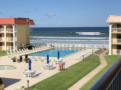 Photo for Ocean front community with great beach views from condo. 2/2 on no drive beach.