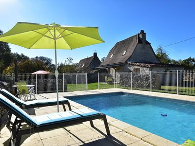 Photo for Authentic holiday home with private swimming pool and stunning view in France
