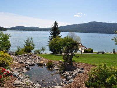 Short walk down the path Whitefish Lake to enjoy all the summer activities.