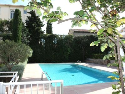 Photo for Charming appt + terrace and pool 2 steps from the beaches of the Croisette