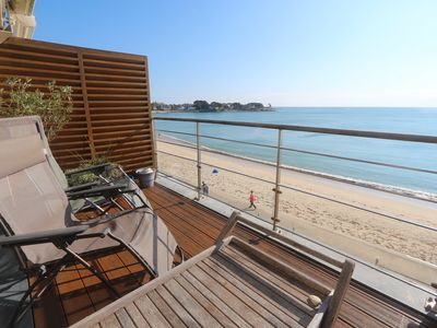 Photo for BENODET apartment with breathtaking ocean views and beach access, 2 bedrooms