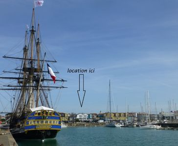 Photo for Dreams and charm to La Rochelle with views of the port and sailboats.