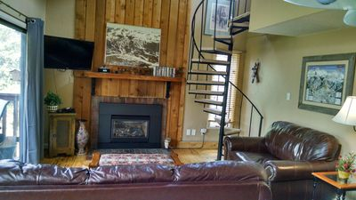 Photo for Peaceful Ski in/Ski Out , Sleeps 8, Top Floor, No Common Walls