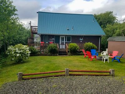 Photo for NEW LISTING! Adorable cottage w/ firepit, wood stove, & easy beach access!