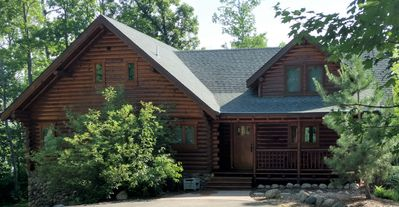 Photo for Tranquil Waterfront Log Home just 5 miles from Itasca State Park