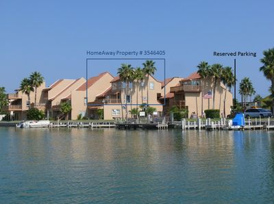 Photo taken from a boat in the Laguna Madre.  Imagine the views from this condo!