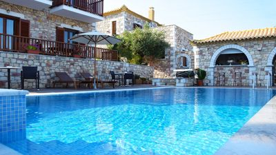 Photo for 3 lux. Holiday homes with communal pool and sea views