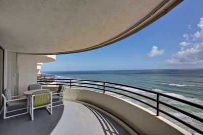 Large balcony with ocean front views!