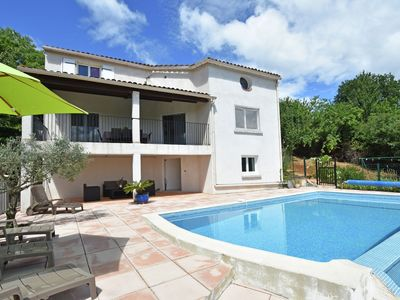 Photo for Holiday home in Courry, with private pool, covered terrace and beautiful views