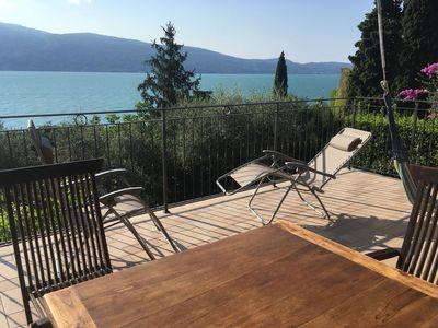 Photo for Villa Gioia - Beautiful Terrace overlooking lake and Monte Baldo