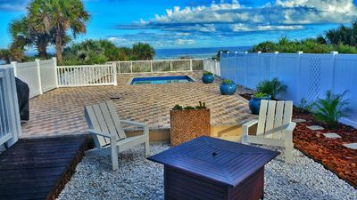 """Photo for """"Beachway Breeze"""" 5bd/4bth Oceanfront home with pool, perfect for groups in New Smyrna Beach"""