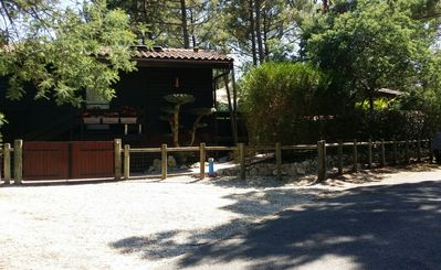 Photo for Large Chalet 90m2 8 minutes from the Ocean with jacuzzi,