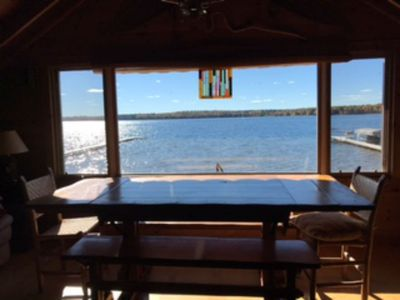 Photo for The Lounge - An Amazing View!  One of a kind - right on Trout Lake!