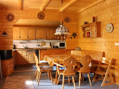 Photo for Log cabin for a large family (4 adults pers. / 3Ki.) on horse farm in the south of Hamburg