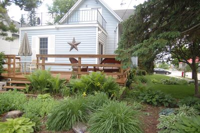 Relax on the backyard deck - Weber Grill and Fire pit Included!