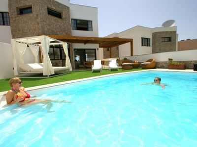 Photo for Fantastic Villa With heated Pool, Chill Out Terrace And Sea Views