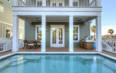 Private pool, with lights, lounge area and optional heating.