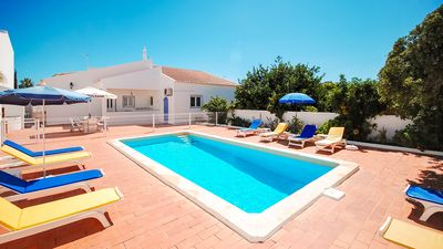 Photo for Centrally located villa, private gated pool, close to beach, AC, free WiFi