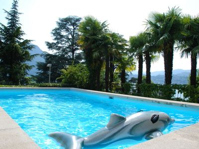 Photo for One bedroom Apartment, sleeps 2 in Ruvigliana with Pool and WiFi