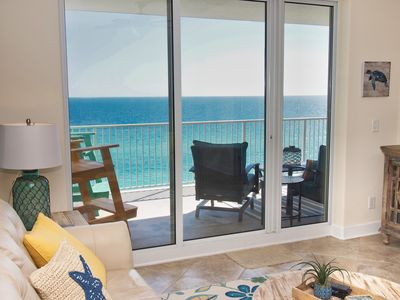 Photo for New 2018 Rental! Gorgeous Gulf-Front Condo at Ocean Reef, Free Beach Chairs!