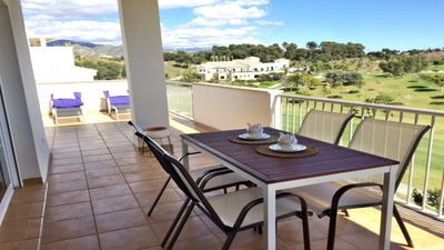 Photo for Fantastic penthouse for rent overlooking the sea and the golf course
