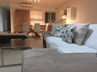 Photo for New St Paul's Bay very spacious modern 3 bedroom apartment close to sea front.