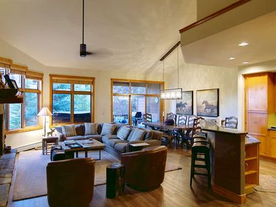 Photo for Off-Season & Summer Deals! Private Hot Tub/Deck, Views, Great Pool, End Unit on Creek, Walk to Mtn,