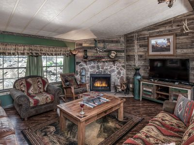 Photo for Buckhorn Cabin provides for a comfortable stay in the mountains