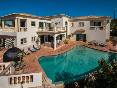 Photo for Luxury 7 bedroom villa, sleeps 14, overlooking Lagos Bay, Western Algarve