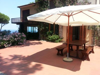 Photo for large apartment in villa with garden and wonderful sea views