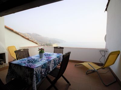 Photo for its sea view terrace is ideal for total relaxation