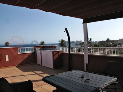 Photo for Penthouse with an absolutely stunning sea view and only 150 m. from the beach.